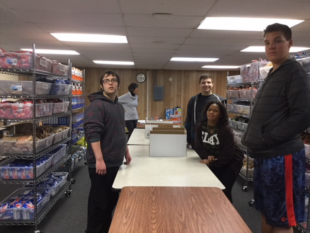 The students from Ms. Hiester's Special Education class had fun sorting hygiene products with us last week. Thanks all!