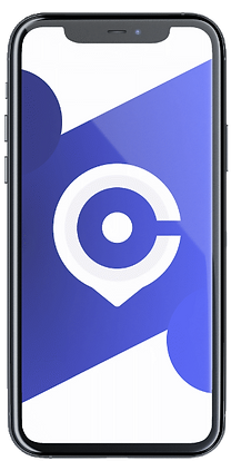 ClubSpot Hero Image of an iPhone with the Company logo being displayed on its screen