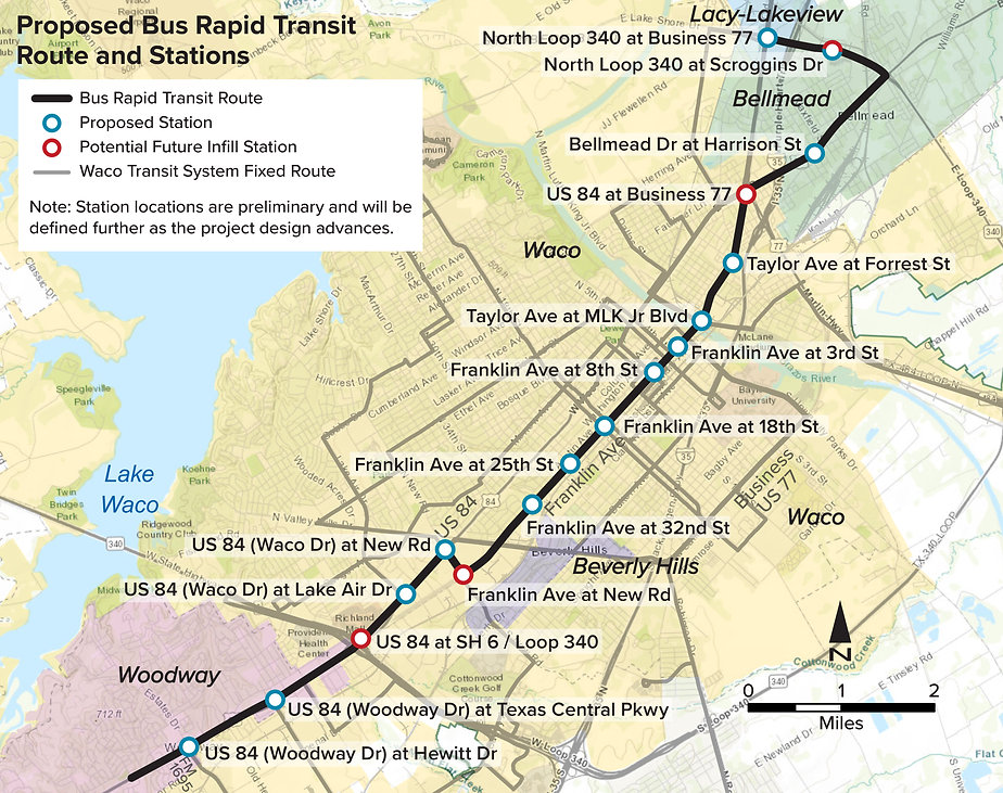 Waco BRT route map En 2021-0520-01.jpg