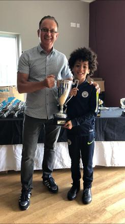 Jayden Samuels Player of the Club 2018/19