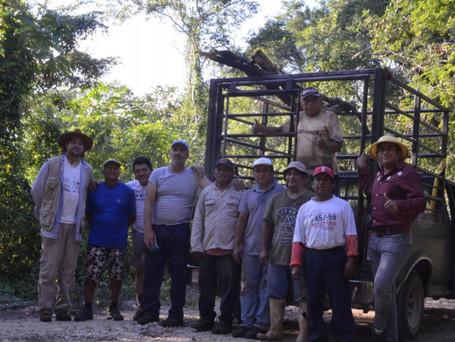 Equipo de trabajo, Proyecto Xbaatun, Yucatán, 2019
