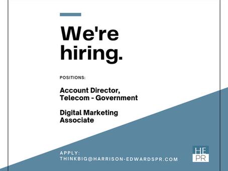 We're Hiring: Account Director