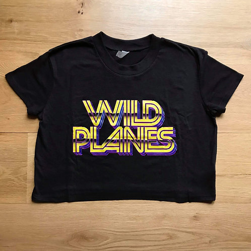 Wild Planes Ladies Crop T-Shirt