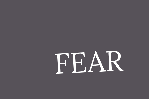 fear experienced as a result of grief