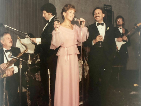 Kim Giving a Toast at a Friend's Wedding, 1984