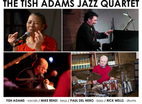 The Tish Adams Jazz Quartet, Sept. 18, 6-7 pm