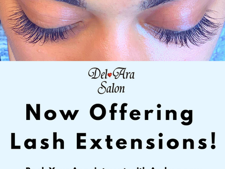 Now Offering Eyelash Extensions