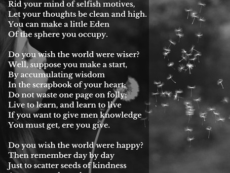 Wishing by Ella Wheeler Wilcox