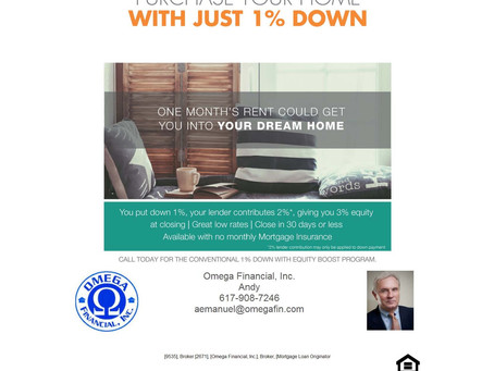 Purchase Your Home with Just 1% Down