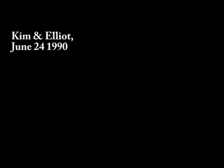 Kim & Elliot, June 24, 1990