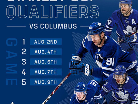 The NHL is back! The Toronto Maple Leafs restart their quest for Stanley!