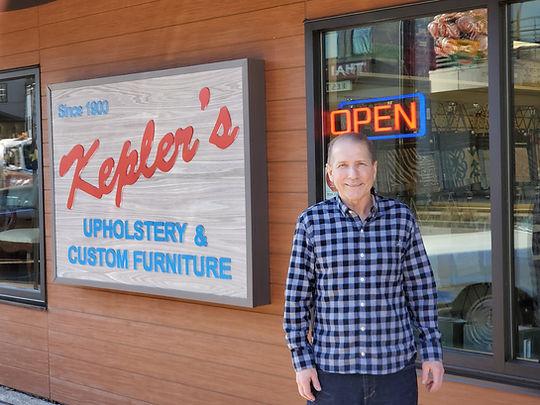 Brian Ankele, owner of Kepler's Upholstery & Custom Furniture