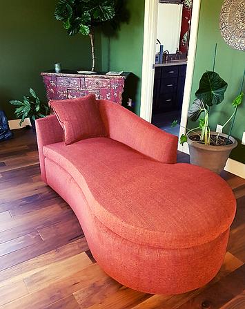 Orange lounger