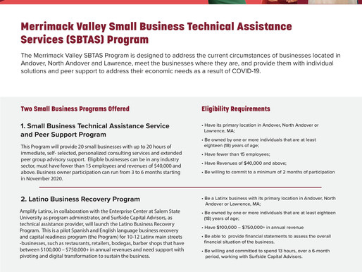 The Enterprise Center -TA GRANTS and Latino Business Resiliency Program