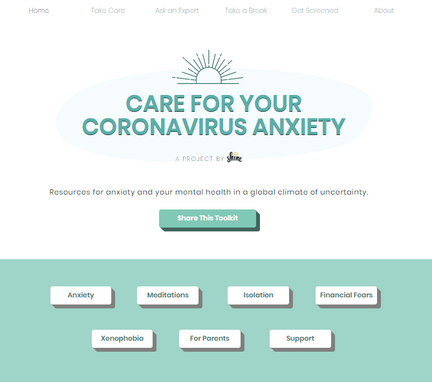 Care for your coronavirus anxiety   by Shine