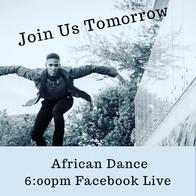FB LIVE: African Dance Class by Izizwe Dance Studio