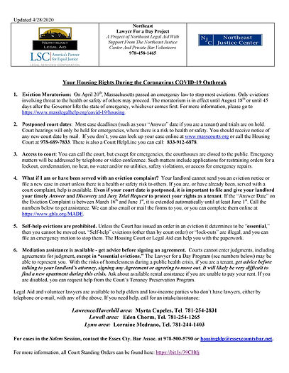 Northeast - Coronavirus Housing Flyer 4-