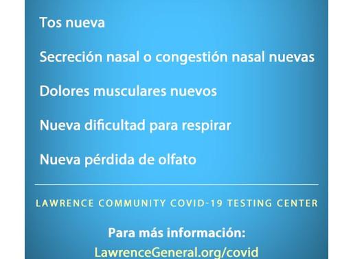Actualización de las pruebas para el virus COVID-19 para residentes de la ciudad de Lawrence
