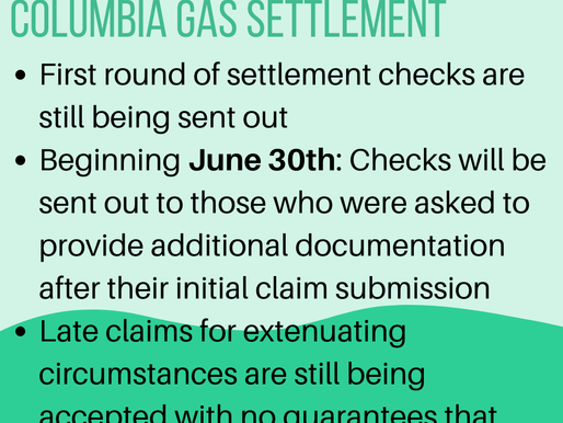 Update on Columbia Gas Settlement