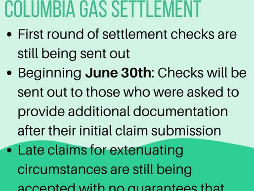 Update on Columbia Gas Settlement