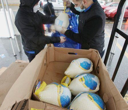 Helping hands - Greater Lawrence Family Health Center distributes 100 turkeys to patients in need