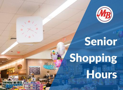 Market Basket: Shopping Hours for Seniors / Horario de compras para personas mayores