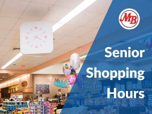 Market Basket: Shopping Hours for Seniors / Horario de compras para personas mayores