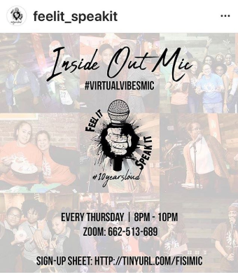 "VIRTUAL Open Mic - ""Inside Out Mic"""