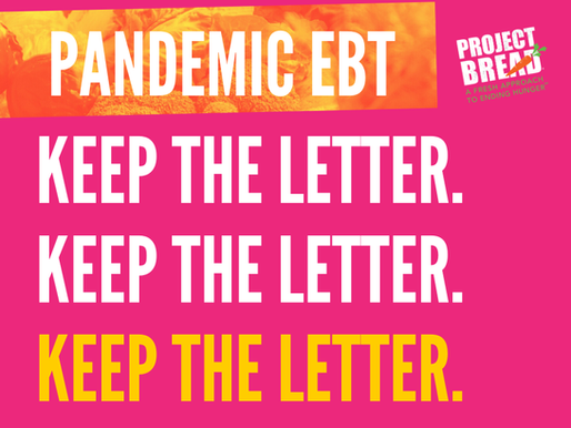 Pandemic EBT - Keep the Letter