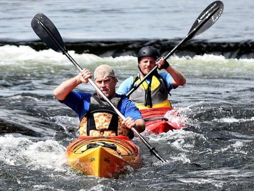Downriver Mass. pols kayak in Manchester to appeal for cleaner water