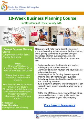 Essex - 10-Week Business Planning Spring