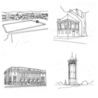 Coloring Book by the Friends of the Lawrence Public Library