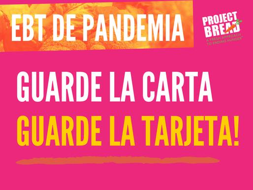 EBT de Pandemia - Guarde la Carta