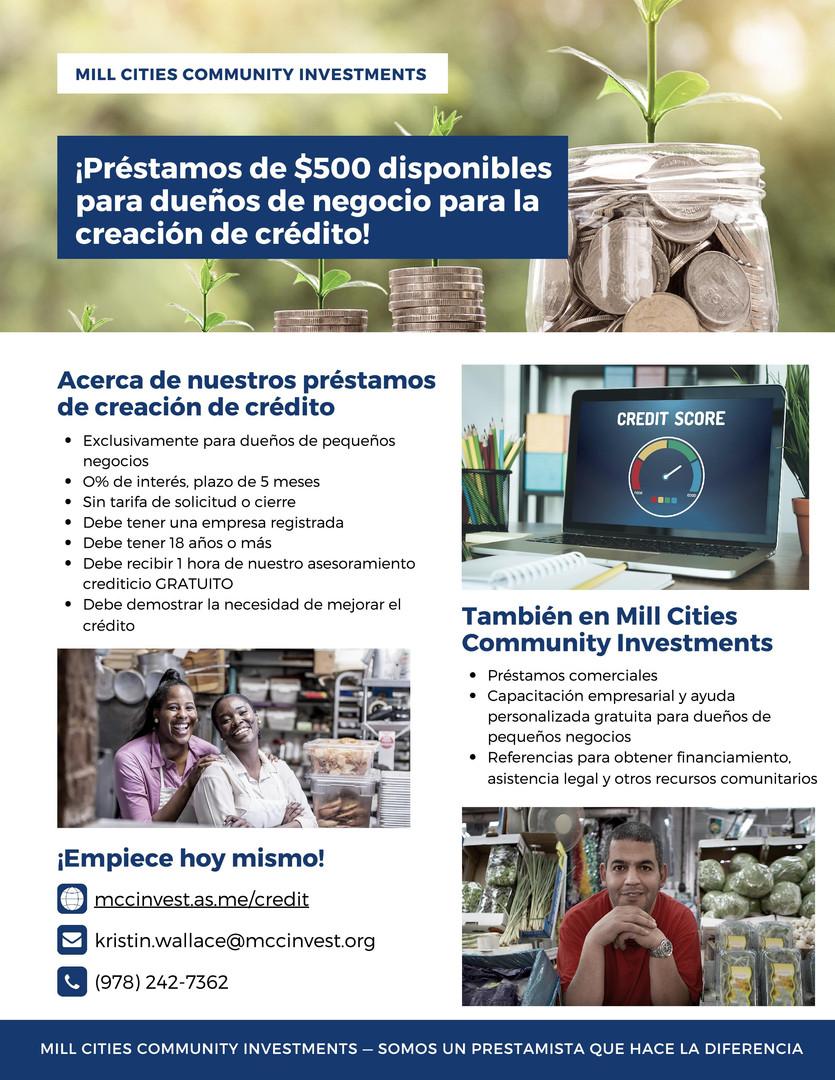 MCCI Credit Builder Flyer SPANISH FINAL-