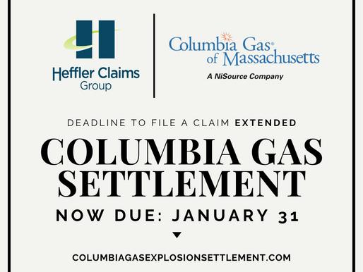 Deadline extended for gas disaster settlement claims