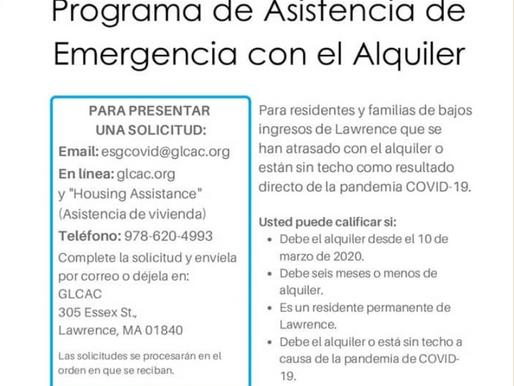 Se ha anunciado el Programa de Asistencia de Emergencia con el Alquiler