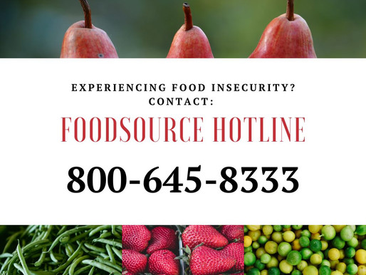 Experiencing Food Insecurity?