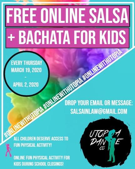 FREE Salsa & Bachata Classes ONLINE