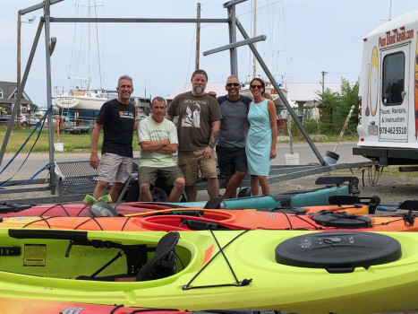 Watershed Council and local leaders kayak 117 miles to support Merrimack River