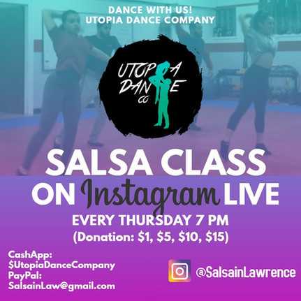 IG/FB LIVE: Salsa Class by Utopia Dance / Salsa in Lawrence