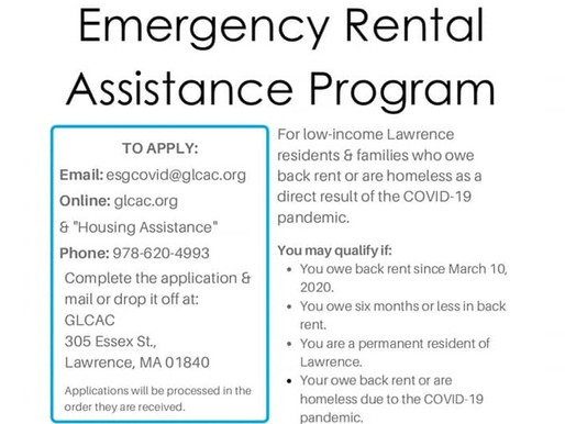 Lawrence residents eligible for $1.6M in COVID-19 housing relief