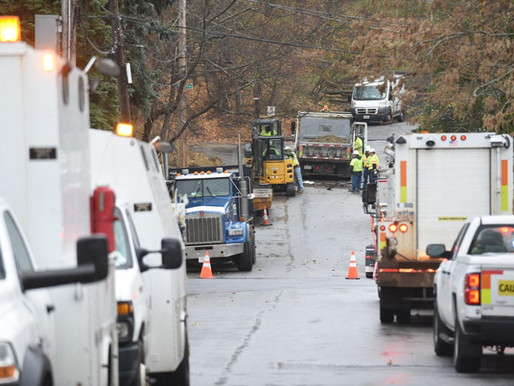 Contractor strikes Tower Hill gas line
