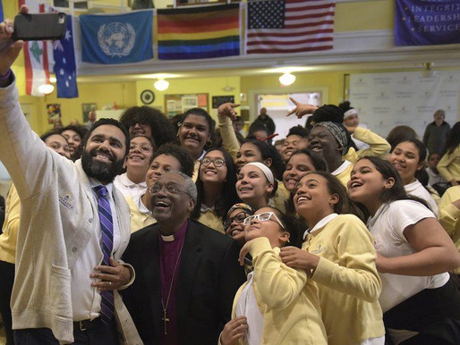 Bishop meets students, hears gas disaster stories - Episcopal leader brings message of hope