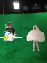 Gareth as a 'Cloud' Filming Family Fortunes with Vernon Kay