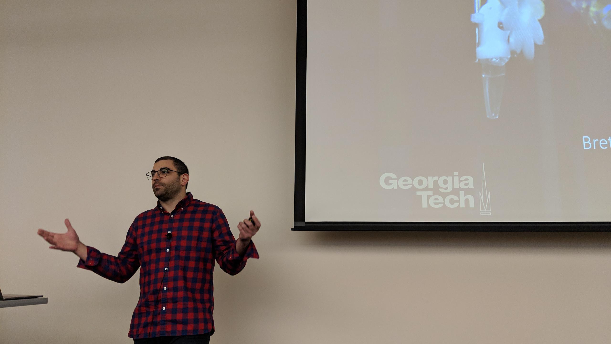 Dr. Aiello gives a seminar