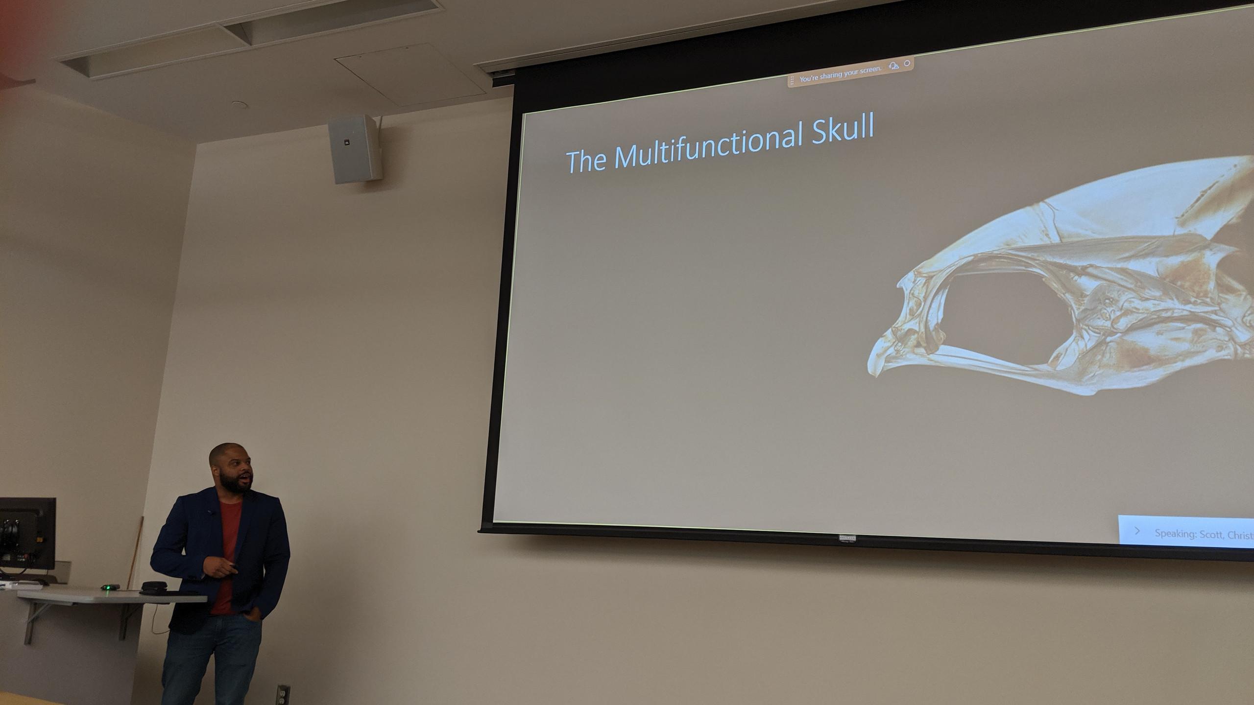 Dr. Evans gives a seminar