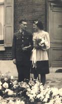 Mum & Dad outside 10 Chaussee de Beaumon