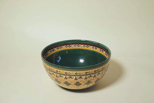 """Medium Serving Bowl  Dark Green   8¼"""""""