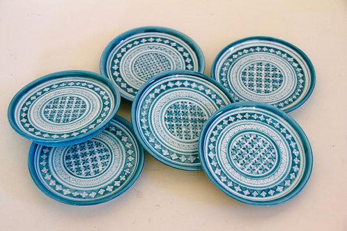 Coasters (set of 6) Turquoise Blue Marli