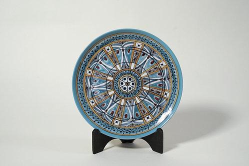 "Coupe Plates 7½"" (set of 2) Light Blue Pattern"